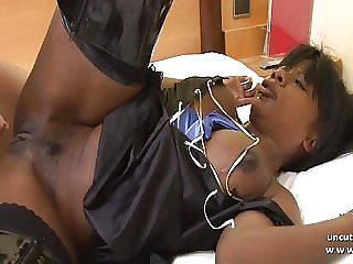Big boobed french black hard analyzed with cum to mouth