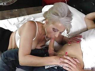 Granny banged hard by lucky young boy