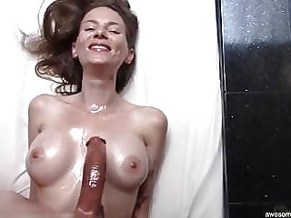 Beautiful Skinny MILF Loves My Curved Dick
