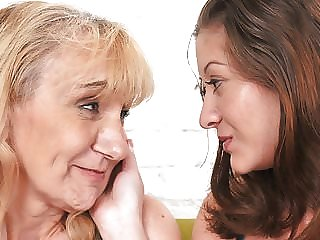 Old and young lesbian lovers