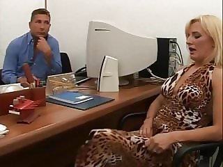Hairy Italian anal and pissing in the office