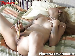Sexy Italian Teen in Ecstasy As She Masturbates Alone