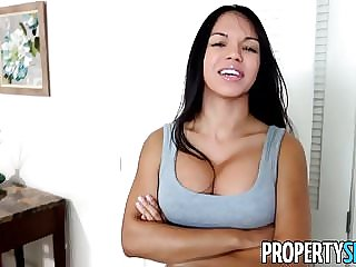 PropertySex - Latina tenant destroyed by landlord's big cock