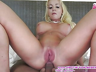 German blond female Bodybuilder anal ride and ass to mouth