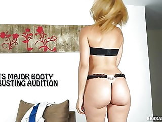 Ana's Major Booty Ballbusting Audition