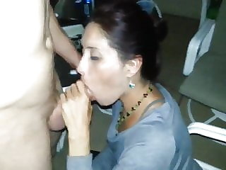 Sharing wife's mouth