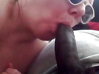 I suck his big dick. He fucks my pussy and cums in me