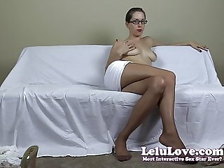 Lelu Love-Secretary Interview Pantyhose Striptease