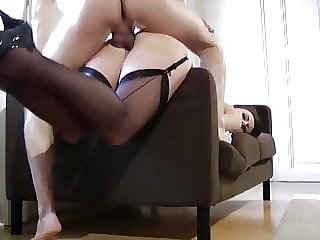 British mature in stockings being fucked