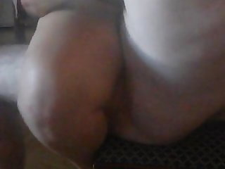 Blowjob and cockride on chair