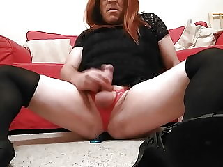 Sissy TV anal play and cum.
