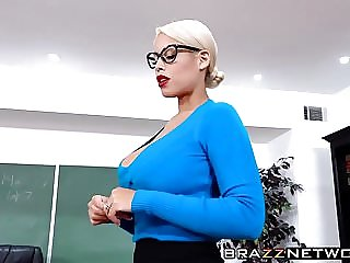 Busty teacher Bridgette B seduces her young student