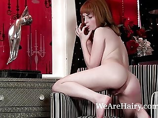 Lola Gatsby enjoys her private time naked on chair